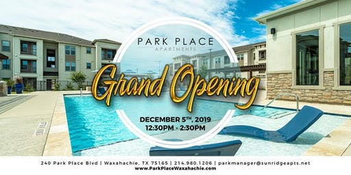 Grand Opening @ Park Place Apts - Grand Prize Giveaways!
