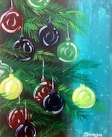 Christmas Tree Painting at Jingle Bar