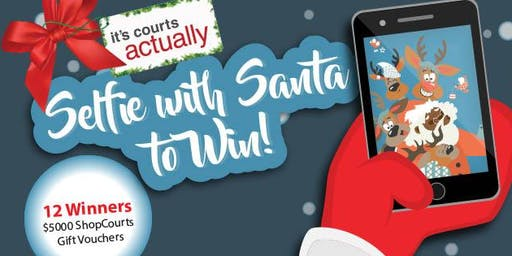 It's Courts Actually- Selfie With Santa to Win