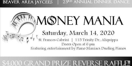 Money Mania: Jaycees Annual Dinner Dance tickets