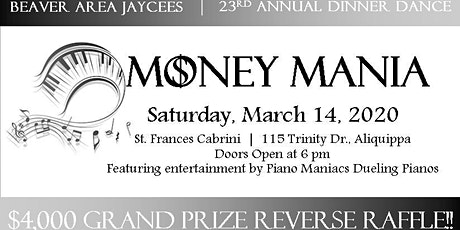 Money Mania: Jaycees Annual Dinner Dance tickets