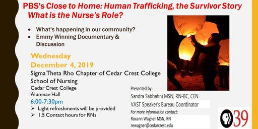 Sigma Theta Rho Chapter of CCC School of Nursing Presents: Human Trafficking in the Lehigh Valley-What's the Nurse's Role