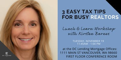 3 Easy Tax Tips For Busy Realtors