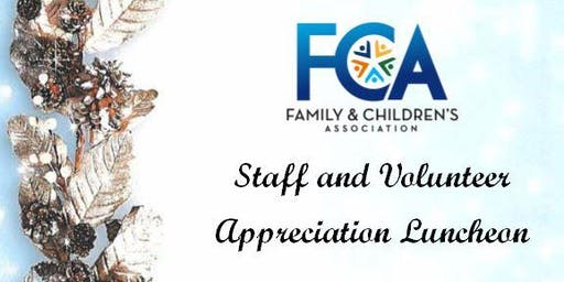 Staff & Volunteer Appreciation Luncheon