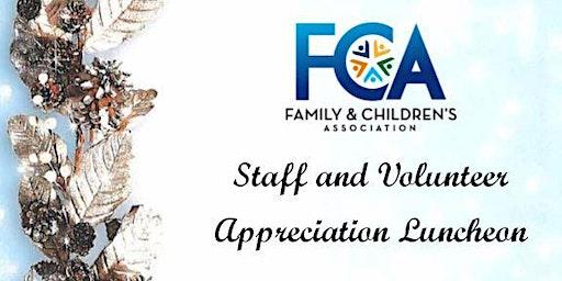 Staff & Volunteer Appreciation Luncheon