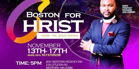 BOSTON FOR CHRIST tickets