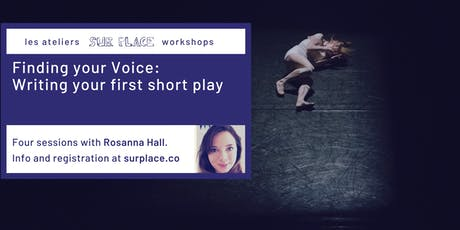 Finding your Voice: Writing your first short play tickets