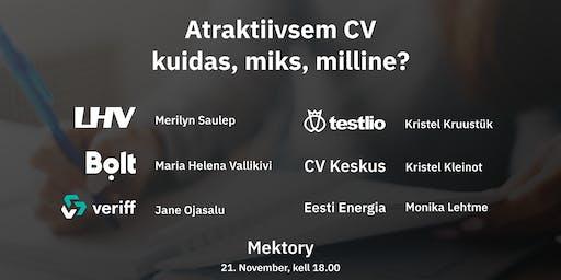 Atraktiivsem CV- kuidas, miks, milline?