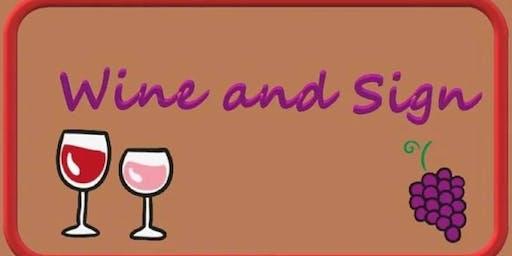 Make & Take Sign & Wine