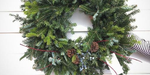 Holiday Wreath Making Workshop at Sweetwater Boutique