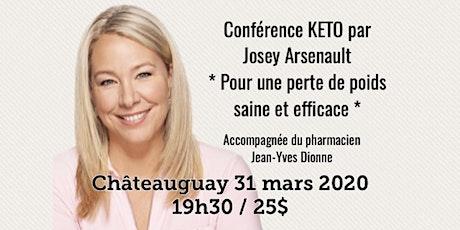 CHÂTEAUGUAY - Conférence KETO - Pour une perte de poids saine et efficace! 25$ billets