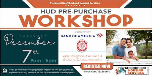 HUD Pre Purchase Workshop- Oakland