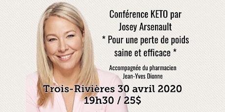 TROIS-RIVIÈRES - Conférence KETO - Pour une perte de poids saine et efficace! 25$ billets