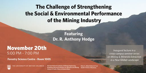 Strengthening the Social & Environmental Performance of the Mining Industry