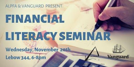 ALPFA Drexel & Vanguard present: Financial Literacy Workshop tickets
