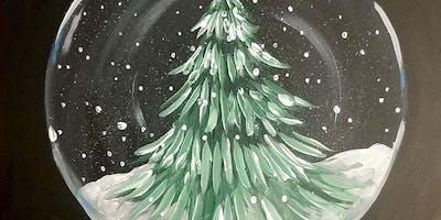Snow Globe Painting at Brennan's