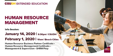 Info Sessions: Human Resources Management Programs | CSUDH tickets