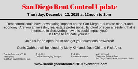 San Diego Rent Control Update  tickets