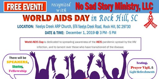 """World AIDS Day in Rock Hill, SC   """"FREE EVENT"""""""