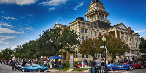 Corvettes on the Square  in Lampasas Texas