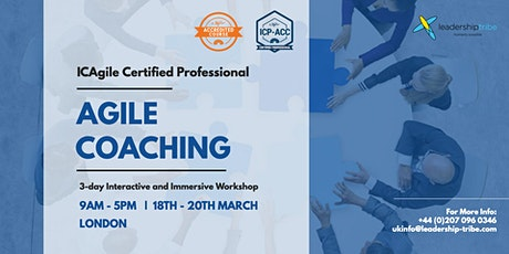 Agile Coaching (ICP-ACC) | London - March 2020 tickets