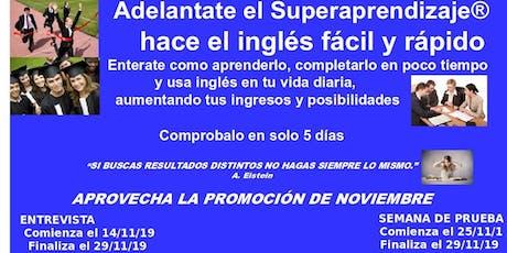 Inglés es fácil, rápido y divertido con Superaprendizaje ® entradas