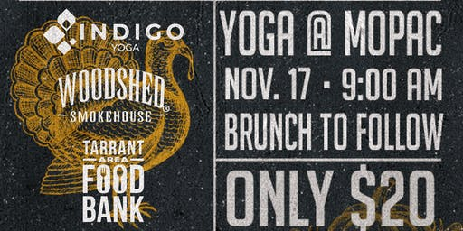 FriendsGIVING with Indigo Yoga and Woodshed Smokehouse