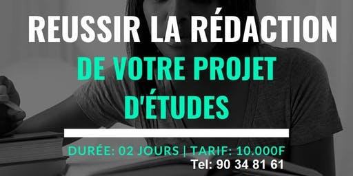 Atelier Rédaction Projet d'études, Etudes en France