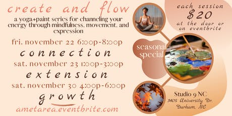 Create + Flow | YOGA+PAINT sessions tickets