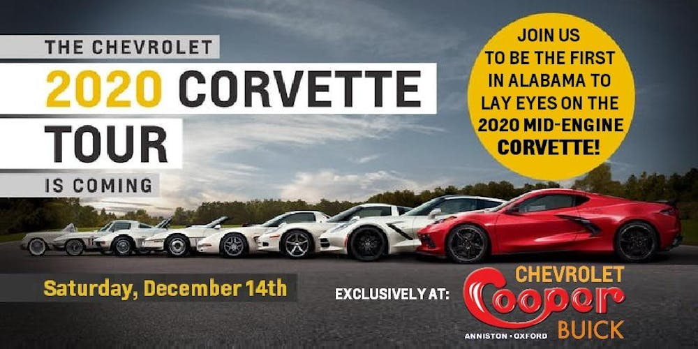 Alabama Tour 2020.The 2020 Chevrolet Corvette Tour Of Alabama Tickets Sat