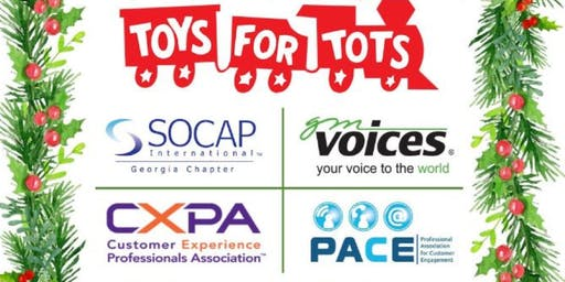 Join the CXPA ATL with SOCAP, GM Voices & PACE for the Third Annual Toys for Tots Holiday Social!