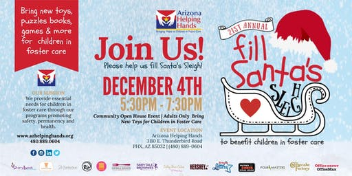 21st Annual Fill Santa's Sleigh - Holiday Toy Drive