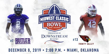 Midwest Classic Bowl - Butler CC vs. Trinity Valley tickets