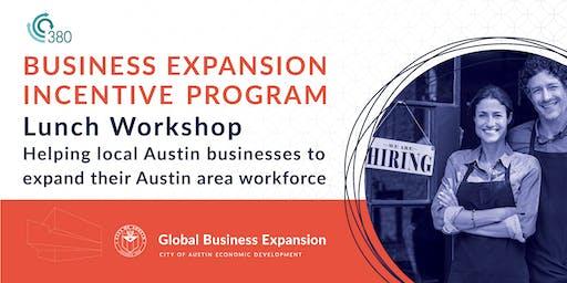 ATX Business Expansion Incentive Program | Lunch Workshop
