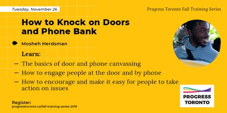 Fall Training Series: How to Knock on Doors and Phone Bank tickets