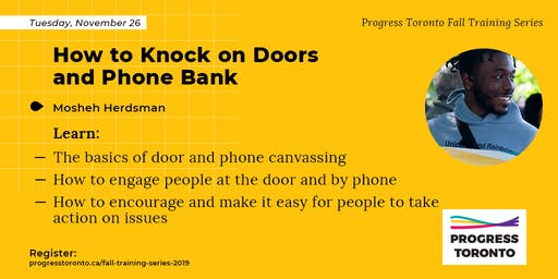 Fall Training Series: How to Knock on Doors and Phone Bank