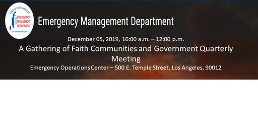 A Gathering of Faith Communities and Government Quarterly Meeting