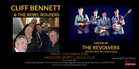 Cliff Bennett & the Rebel Rousers (support by the Revolvers) tickets