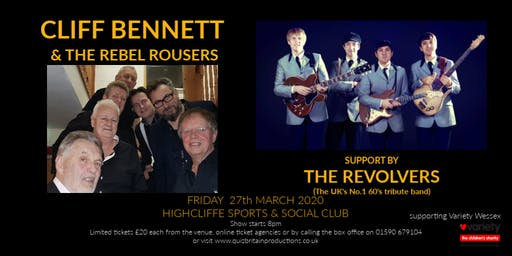 Cliff Bennett & the Rebel Rousers (support by the Revolvers)