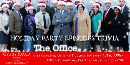 "The Office Trivia ""The Holiday Party Episodes"" at Gypsy Road Brewing Co"