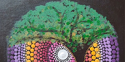 Tree of Life Dot Painting Party at Brush & Cork