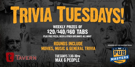 Pub Masters Trivia LIVE at Tavern Tech Center-Denver!