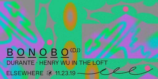 Bonobo (DJ Set), Durante & Henry Wu @ Elsewhere (Hall)