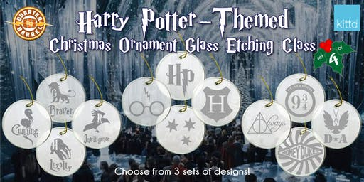Harry Potter-themed Christmas Ornament Etching