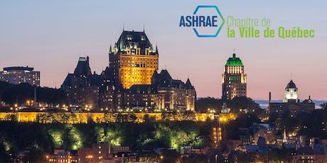 Souper-conférence ASHRAE Québec - Refroidissement par l'entremise de planchers radiants billets