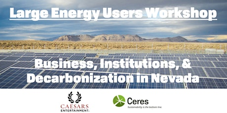 Large Energy Users Workshop: Decarbonization in Nevada tickets