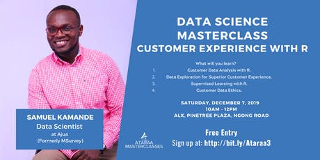 Data Science Masterclass: Customer Experience with R tickets