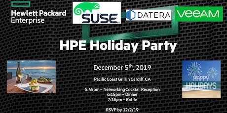 HPE Holiday Dinner - Sponsored by Suse, Veeam & Datera tickets