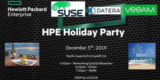 HPE Holiday Dinner - Sponsored by SUSE, Veeam & Datera