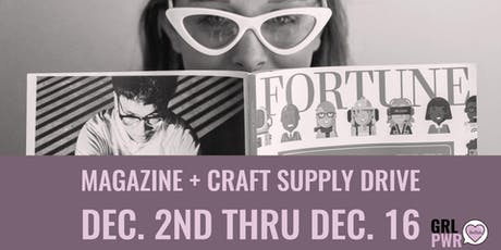Magazine and Craft Supply Drive  tickets